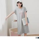 《DA8337》親子系列~高含棉LOVE幾何印圖洋裝 OrangeBear