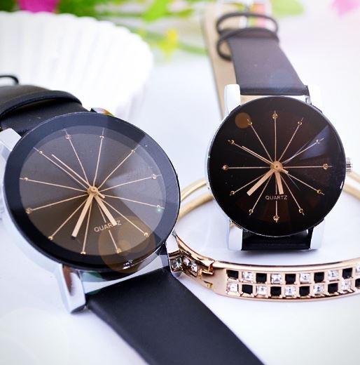 時尚簡約凸面PU皮質手錶/情侶錶 129元