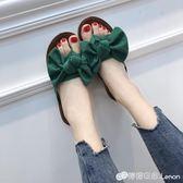平底低跟平跟韓版外穿女拖鞋蝴蝶結人字拖女涼拖涼鞋 檸檬衣舍