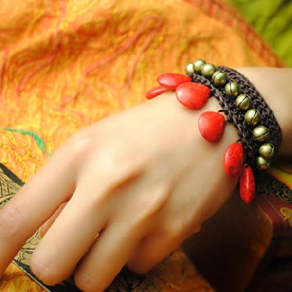 手飾 泰國原創民族風紅石-月兒的綺麗莊園