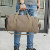 出行帆布旅行包大容量手提男士健身包單肩出差行李包休閒衣服包