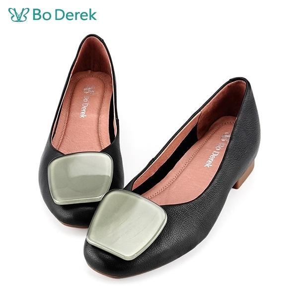 Bo Derek 果凍方塊平底鞋-黑色