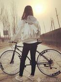 變速死飛自行車男單車公路賽車雙碟剎充氣實心胎成人學生女熒光 LX