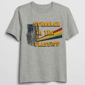 Gap男童 妙趣圖案圓領短袖T恤 497367-亮麻灰色