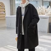 新款毛呢大衣男中長款風衣韓版潮流外套秋冬季加厚痞帥氣上衣 雙十二全館免運