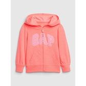 Gap女幼童 活力亮色徽標LOGO連帽衫540093-珊瑚色