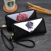 小包包女春夏新款時尚印花女長款錢包手拿手機包女包零錢包女    韓小姐