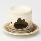 日本陶瓷【益子燒】黄釉 茶香爐-長 手作薰香爐