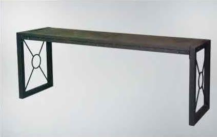 【南洋風休閒傢俱】戶外休閒桌椅系列 -4尺鐵製長板凳  無背公園椅  戶外庭院椅(S13110)