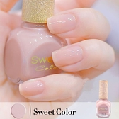 指甲油 無毒透明果凍指甲油裸色韓國持久不掉色糖果純色酒紅 店慶降價