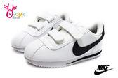 NIKE阿甘鞋 小童鞋 現貨 正版 Cortez Basic SL (TDV)復古慢跑鞋O7025#白黑◆OSOME奧森童鞋/小朋友