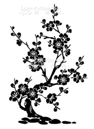【貝登堡】楓木印章/木頭印章/木頭章 梅花 FT-3795