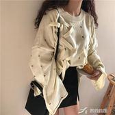 秋季女裝韓版純色個性破洞穿繩不規則套頭毛衣寬鬆長袖針織衫上衣 樂芙美鞋