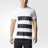 Adidas UH SS TEE GFX 男 白 黑 經典休閒短袖上衣 短t 棉質 透氣 TEE 愛迪達 T恤 CF4727
