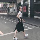 VK精品服飾 韓版休閒復古學生洋氣吊帶背...