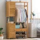 簡易衣帽架實木臥室落地掛衣架櫃子簡約現代衣服包置物家用 全館新品85折 YTL