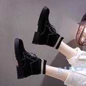 短靴 馬丁靴女冬季2019新款英倫風百搭學生鞋子加絨短筒靴子厚底短靴秋