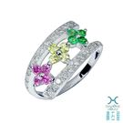 ﹝鑽石屋﹞鑽石戒指 花朵彩鑽戒指...