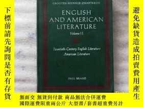 二手書博民逛書店ENGLISH罕見AND AMERICAN LITERATURE