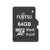 Fujitsu microSDXC UHS-I A1 V30 U3-64GB含轉卡【愛買】