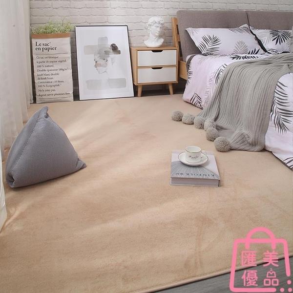 120*160cm地毯臥室床邊毯客廳地墊毛絨加厚簡約【匯美優品】