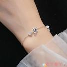 手鍊 宇宙星球手鍊925純銀女韓版小眾設計銀飾簡約個性學生閨蜜手飾 愛丫 免運