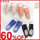 帆布懶人鞋 運動鞋 休閒鞋 開口笑 日本品牌【coen】