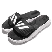 adidas 涼拖鞋 Alphabounce Slide 黑 白 男鞋 舒適 回彈中底 涼鞋 運動拖鞋 【ACS】 BA8775