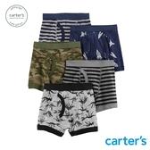 【美國 carter s】 帥氣男孩5件組四角褲-台灣總代理