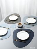 餐桌墊北歐風皮革餐桌墊家用西餐墊防水防油隔熱墊創意碗墊子杯墊餐盤墊 流行花園