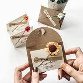 【6枚入】賀卡帶信封生日卡聖誕節賀卡復古卡片【奇趣小屋】