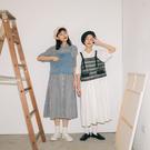 Queen Shop【01085584】腰間細摺棉麻襯衫長洋裝 兩色售*現+預*