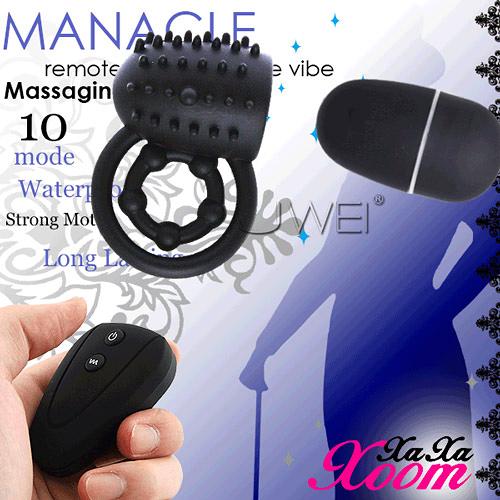 【贈好禮】XaXaXoom MANACLE 10段變頻遙控跳蛋+激情套 鎖精環