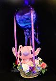 12吋坐姿天使史迪奇幸福熱氣球,金莎花束/情人節禮物/婚禮佈置/派對慶生,節慶王【Y290024】