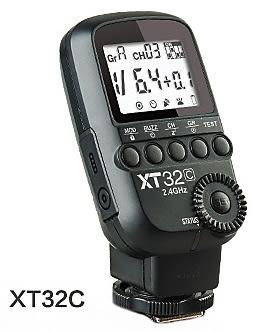 呈現攝影-Godox神牛 XT32C Canon版 無線2.4G高速發射器 16組32頻 閃引器 QT600ll AD-600 攝影棚