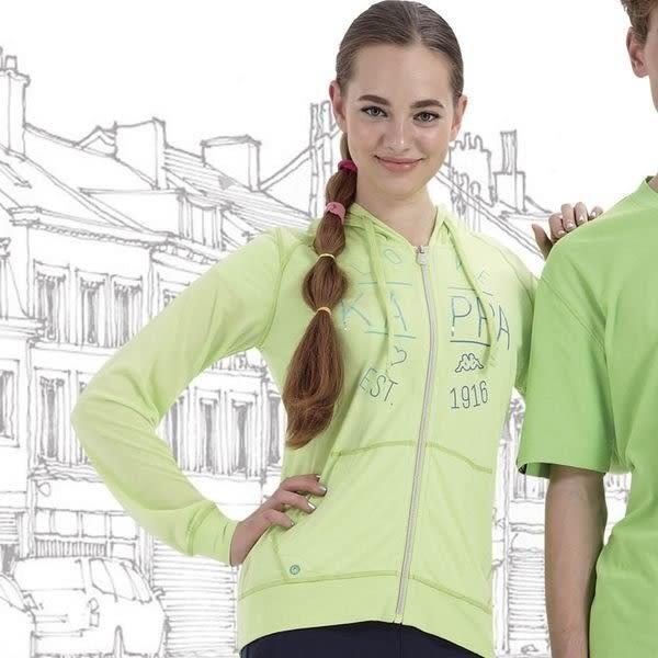 [陽光樂活=](特價) KAPPA 女款 長袖連帽外套 FC52-C310 嫩芽綠.櫻桃紅