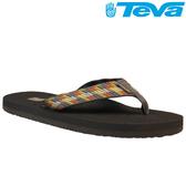 TEVA 超輕量舒適記憶鞋床織帶夾腳拖 Mush 2– 斜紋棕