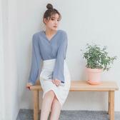 MUMU【T58340】V領雪紡長袖襯衫。三色