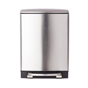 HOLA 蘿拉方形緩降金屬垃圾桶6L-不鏽鋼