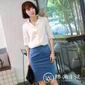 新款時尚女裙白領面試套裝女套裝正裝氣質職業修身工作服2018夏季