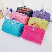 便攜化妝包大容量隨身簡約旅行收納袋手提小號化妝品箱洗漱包HPXW