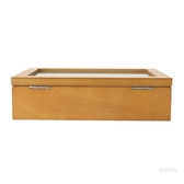 手錶盒 雅式復古木質玻璃天窗手錶盒子八格裝手錶展示盒首飾手鏈盒收納盒【快速出貨】