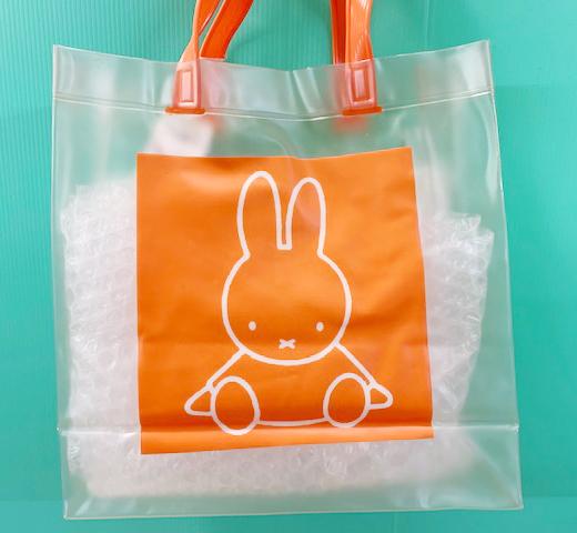 【震撼精品百貨】Miffy 米菲兔/米飛兔~米菲兔防水手提包/收納包-透明橘#59641