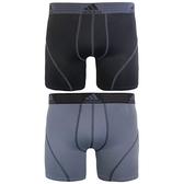 Adidas- 阿迪達2件組運動平角內褲(黑色/灰色)