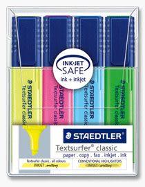 德國施德樓STAEDTLER-噴墨隱形螢光筆4支組/MS364WP4