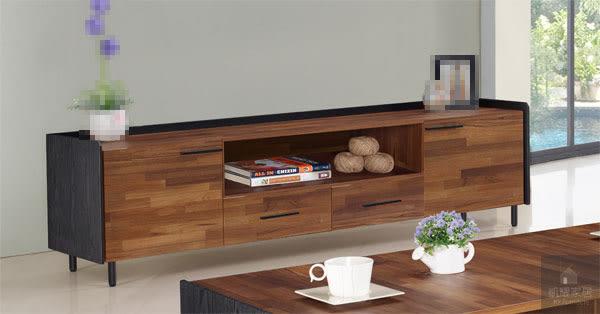 畢卡索5.8 尺集層柚木雙色長櫃