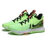 NIKE 籃球鞋 LEBRON WITNESS V EP 螢光綠 黑LOGO 氣墊 緩震 支撐 穩定 男 (布魯克林) CQ9381-300