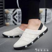 夏季男鞋豆豆鞋子休閒鞋青年帆布鞋一腳蹬懶人板鞋老北京布鞋防臭 時尚潮流