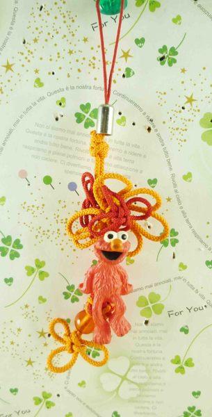 【震撼精品百貨】Sesame Street_芝麻街~手機吊飾-中國結