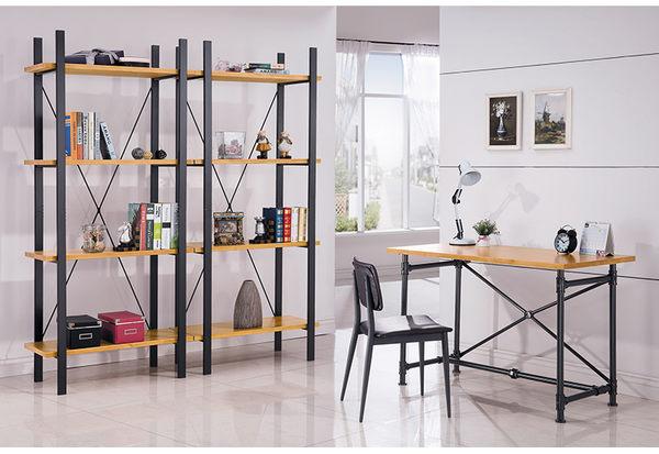 【森可家居】艾德2.7尺工業風全實木面書架 7HY512-1 MIT 台灣製造